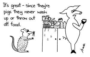 cartoon pig and rat