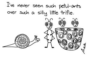 cartoon snail and ants