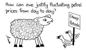 cartoon sheep and birds