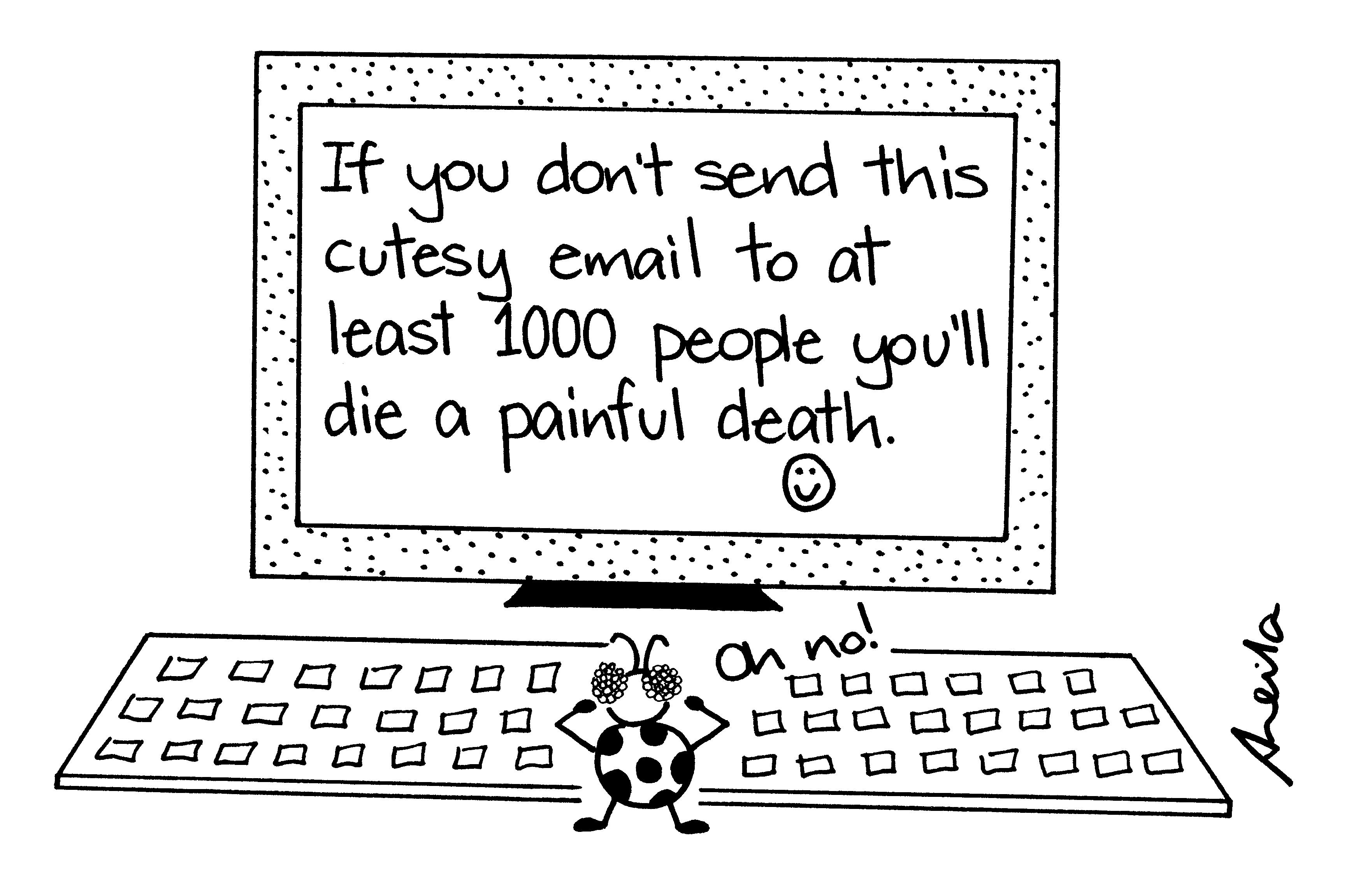 computers technology pet hates or pet peeves cartoons cartoon bug and computer